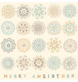 Vintage Christmas Pattern Card vector image