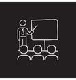 Business presentation sketch icon vector image