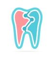 Dental logo design for dentist or dental clinic vector image