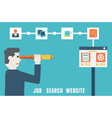 Flat concept of job search website vector image