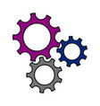 gears wheel cogs teamwork idea collaboration vector image