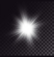white sun shining brightly vector image