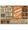Pack old advertisement designs and labels - vector image