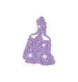 princess with dust glitters princess with dust vector image
