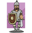 knight in armor cartoon vector image