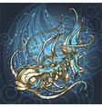 Mechanical fish vector image