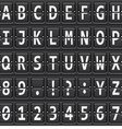 alphabet of black mechanical panel vector image