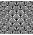 Decorative floral seamless pattern with black vector image