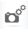 camera gears symbol icon vector image vector image