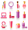 cosmetic icons vector image vector image