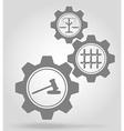 gear mechanism concept 14a vector image