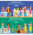Shopping Mall Department Store 2 Banners vector image