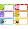 Polkadot labels with many insects vector image vector image