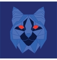 Blue low poly bobcat vector image