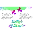 daddy s little monster lil sample text design vector image