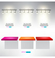 interior for advertise products with lighting vector image