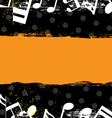 music grunge banner design vector image