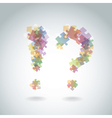 Puzzle question marks vector image