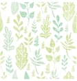 Textile textured spring leaves seamless pattern vector image