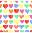 Watercolor colored hearts seamless patternBaby vector image
