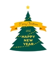 xmas tree icon cartoon flat style vector image