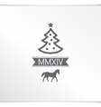 Happy Christmas greeting with symbols coming year vector image