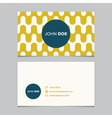 business card pattern yellow 07 vector image