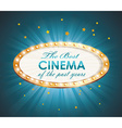 Old Cinema banner with light bulbs cinema vector image