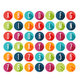 Flat icons alphabet vector image