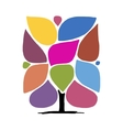 Art tree with frames infographic concept vector image
