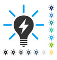 electric light bulb icon vector image