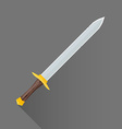 flat style medieval battle sword icon vector image