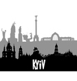 Kiev silhouette vector image