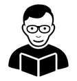 Reader Flat Icon vector image