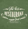 retro organic food restaurant poster vector image