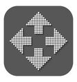 The arrow icon Navigation and positioning vector image