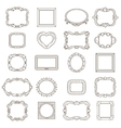 Vintage hand drawn frames for greetings and vector image