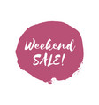 weekend sale design template vector image