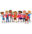 teamwork business people concept vector image