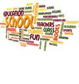 School Word Cloud Bubble Tag Tree vector image vector image