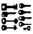 keys silhouettes vector image vector image