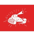 silhouette of the Soviet tank vector image
