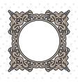 vintage frame round vector image vector image