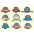 Nine Premium Quality labels vector image vector image