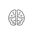brain line icon medical and school element vector image
