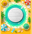 emblem on beach vector image
