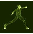 Fighting Man 3D Model of Man Human Body Model vector image