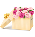 Gift Box with Flowers vector image