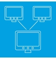 Global computer networks icon vector image