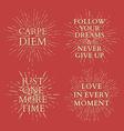 Motivational quotes on sun burst T-shirt print vector image